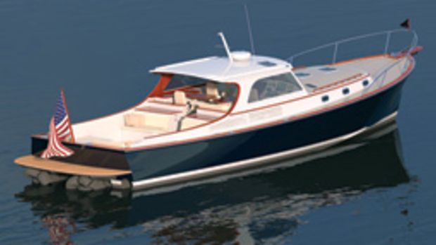 This Doug Zurn-designed 50-footer is being built by New England Boatworks on a semicustom basis.
