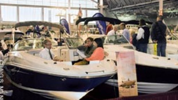 The New England Boat Show, Feb. 20-28 at the Boston Convention & Exhibition Center, saw a slight uptick in attendance this year.