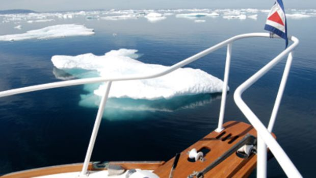 The 46-foot Jarvic Newman-designed lobster yacht was fitted with a stainless-steel icebreaker sporting a chisled edge for cutting through ice.