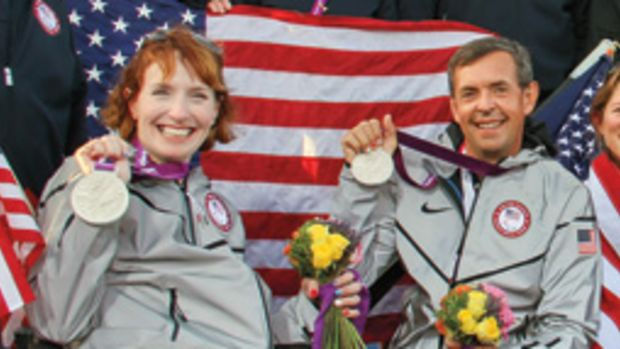 Jen French won a silver medal with Jean-Paul Creignou in the SKUD 18 Class at the Paralympic Games last year, then followed that up with Rolex Yachtswoman of the Year honors.