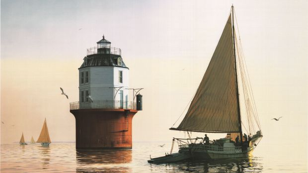 H.M. Krentz, Sunrise Rendezvous at Baltimore Light Painting