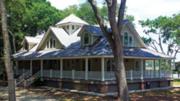 Every room on the main level of the house has access to the wraparound porch.
