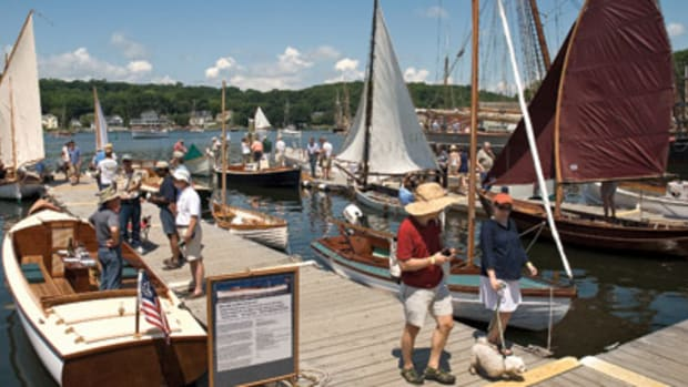 Attendance was brisk on the docks and on the grounds of Mystic Seaport.