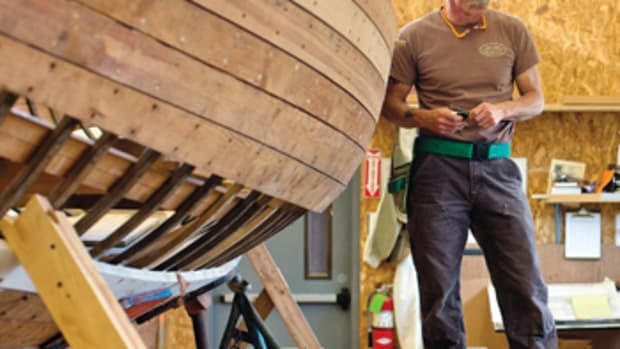 Military veteran Jon Ferguson is reaching out to other vets to share the therapeutic benefits of boats and boatbuilding.