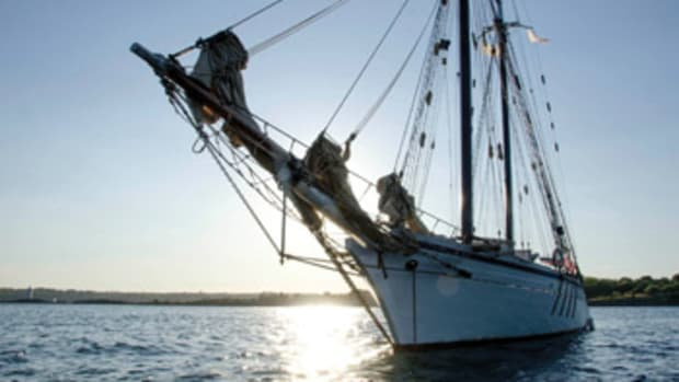 """The Harvey Gamage visited the bottom of the Bay this summer. The writer has been assigned """"port captain"""" duties whenever the schooner puts in."""