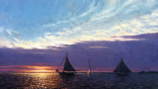 Oil painting by John M. Barber.