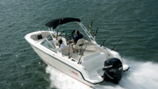 The Whaler 230 Vantage is offered with several power options.
