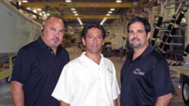 (From left) Moises Rodriguez, Ralph Torres and Ariel Pared are partners at SeaVee Boats.