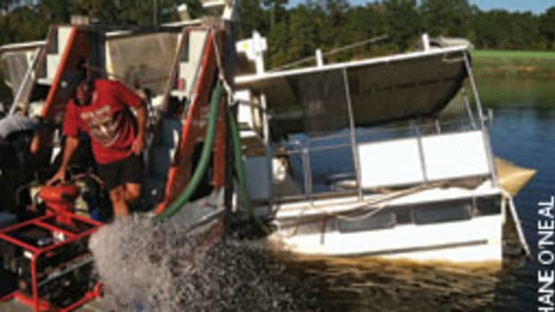 Southern Marine Towing refloated the DeFever and transported it to a marina in Pickensville, Ala.
