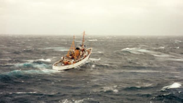 """The cutter Tamaroa battled atrocious conditions to save seven lives during the """"No Name Storm"""" of 1991."""