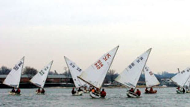 Frostbite racing on Long Island Sound