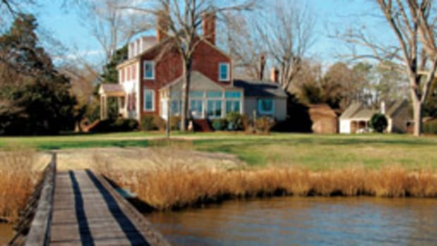 Known as Exchange, the house was built about 1720 and overlooks the North River.