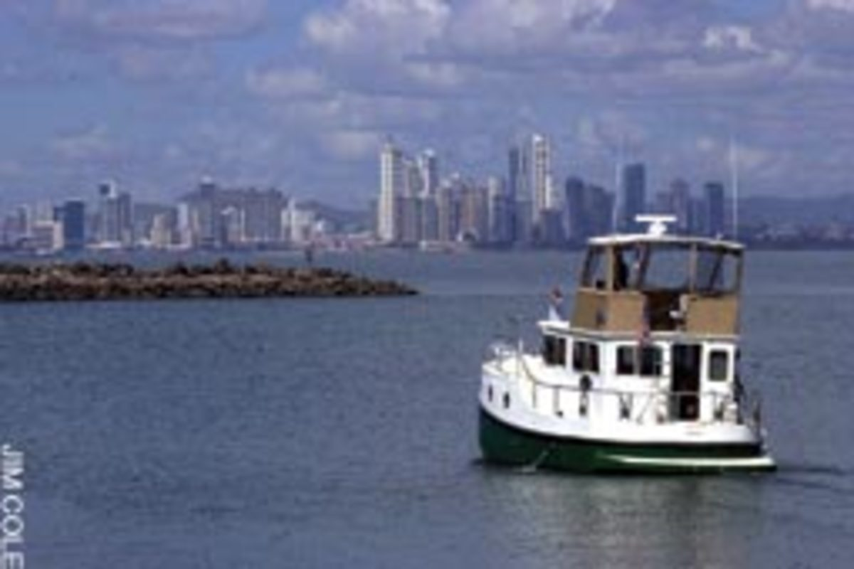 Panama City shows its modernity on the Pacific side of the canal.