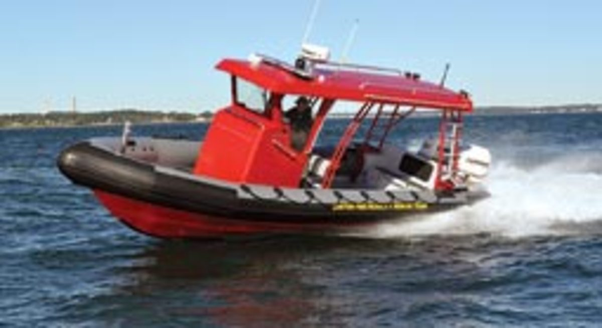 A new rescue boat will be patrolling the waters of Boston Harbor.