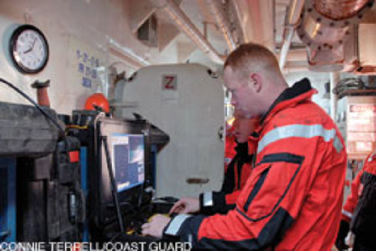 The Coast Guard deployed a remotely operated camera to examine the Patriot wreck.