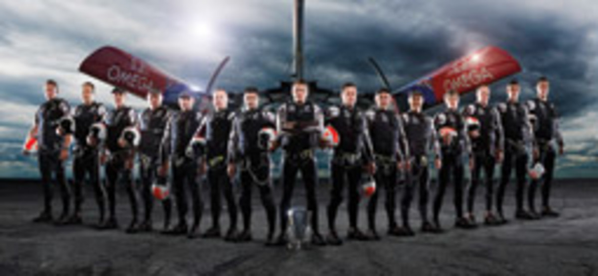 The dark skies in this photo of Emirates Team New Zealand now seem prophetic.