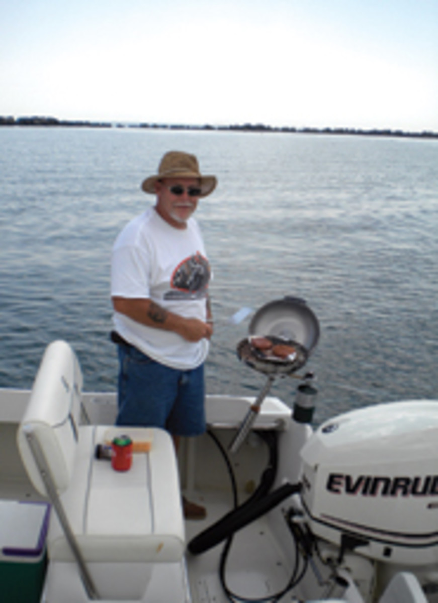 Robert launched the boat during Memorial Day weekend and enjoyed his first season with it.
