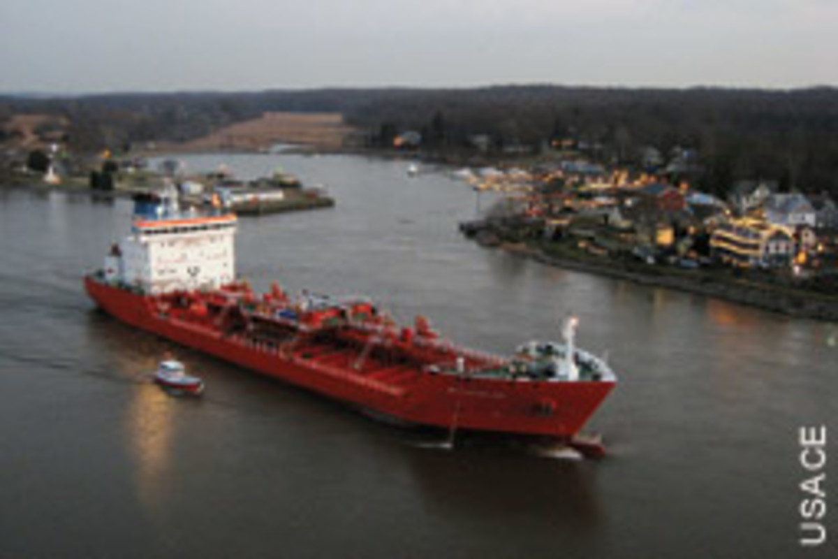 Chesapeake City is where Delaware and Maryland pilots trade off as commercial traffic is assisted through the canal.