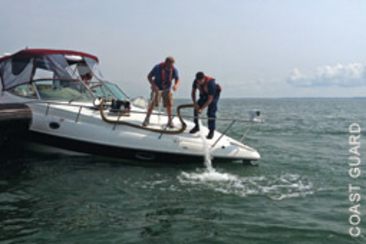 High-capacity pumps, and professional help, kept this boat from finding the bottom.
