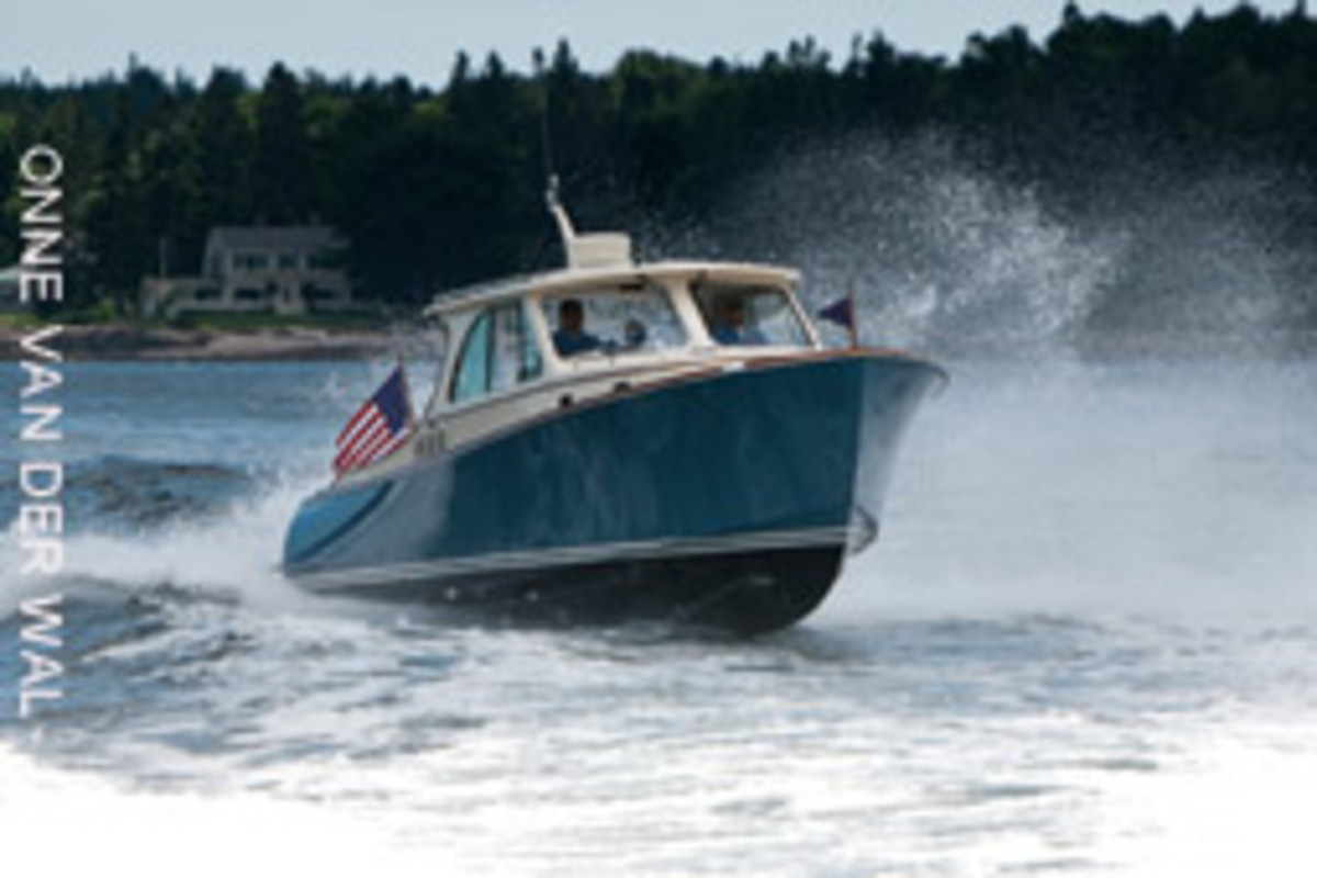 Hinckley was a pioneer of joystick technology, developing the JetStick for its waterjet-powered boats in 1998 (T34 shown).