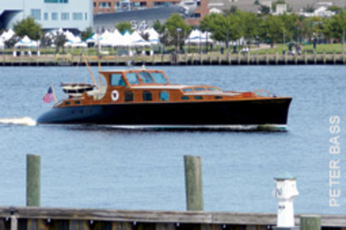 Sometimes yachting royalty passes by the writer's perch: the mighty Aphrodite, which spends her summers in New England.