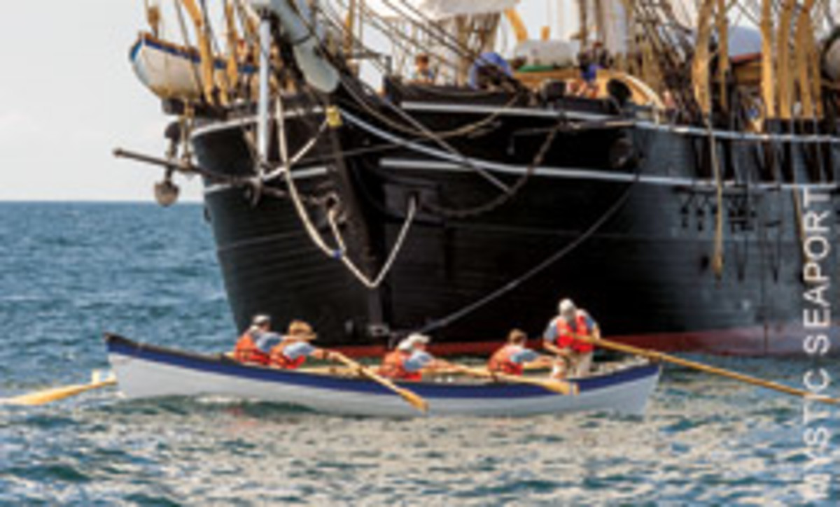 Whaleboats, built by apprentices and maritime institutions around the country, were lowered in friendly chase of fins and humpbacks.
