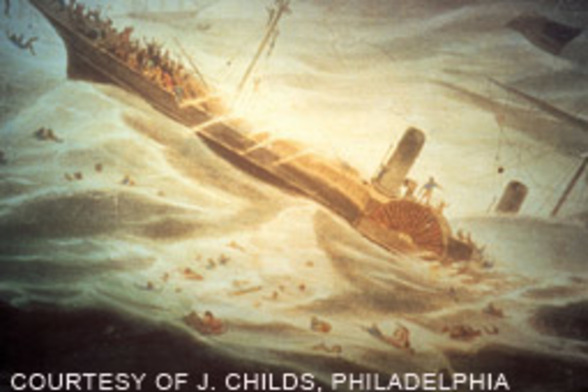 The sinking of the Central America claimed 425 lives.