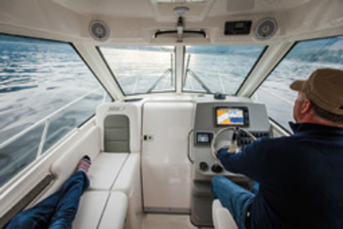 Ideally a boat should be comfortable to operate in both standing and seated positions at the helm.