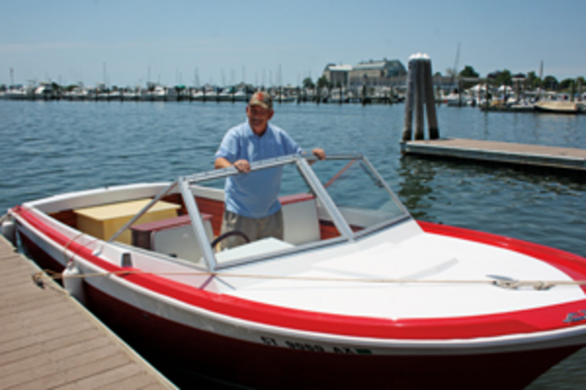 The reward for Hannon's patience: the classic Chris-Craft he has wanted since childhood.