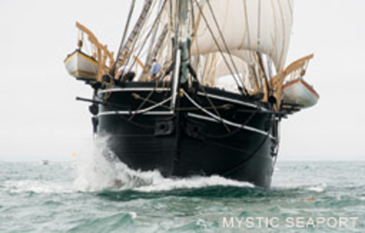 The Morgan's speed and responsiveness surprised her crew. She's seen here crossing Buzzards Bay.