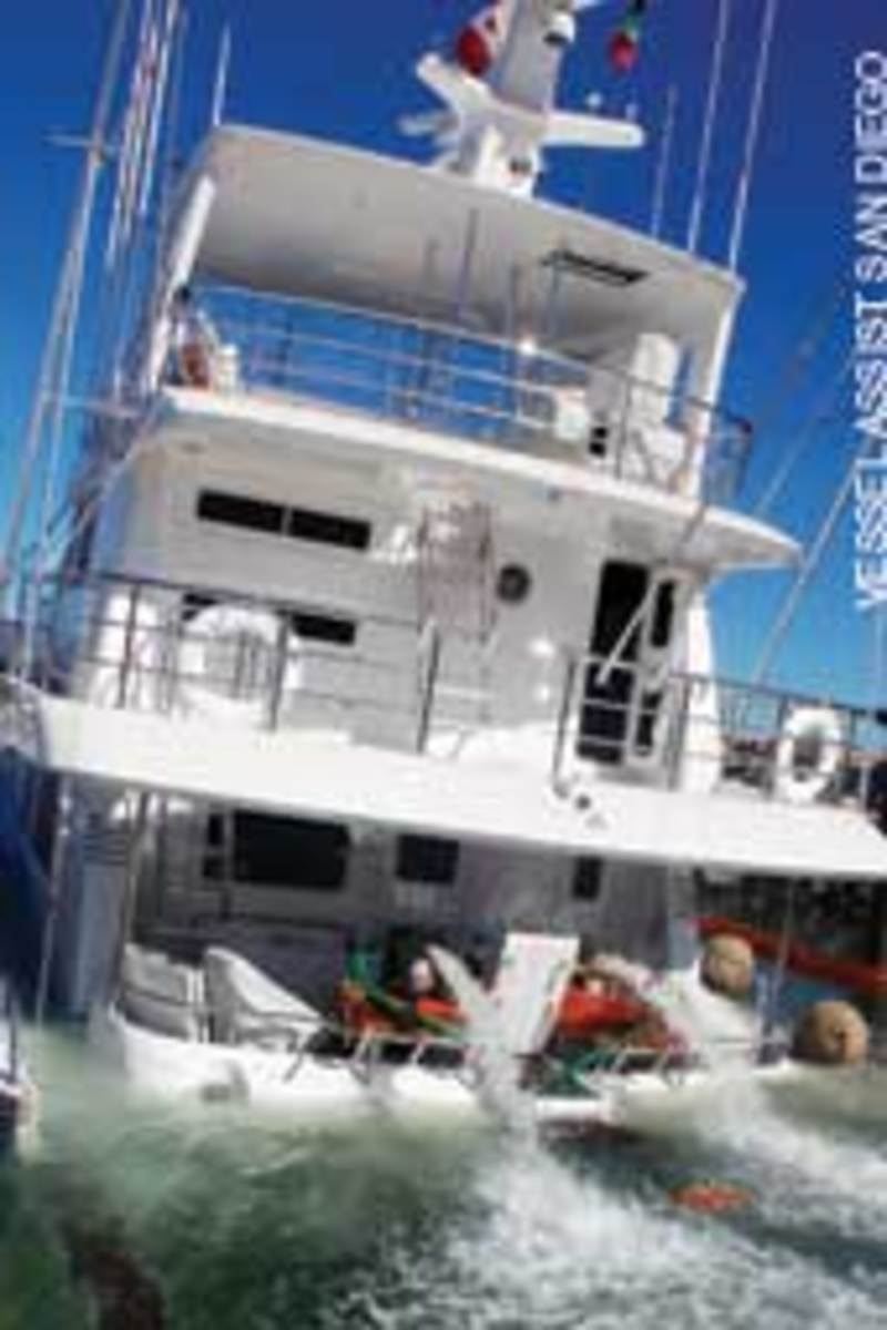 Plumbing failure sinks $4 5 million yacht in its slip - Soundings Online