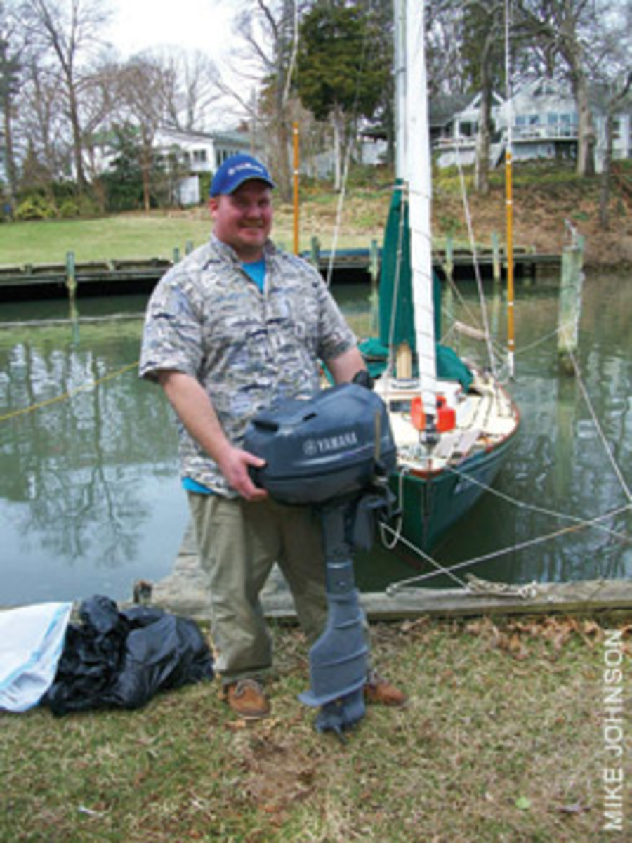 The new Yamaha outboard installed by Jesse Tucker presented a new challenge for Jack.
