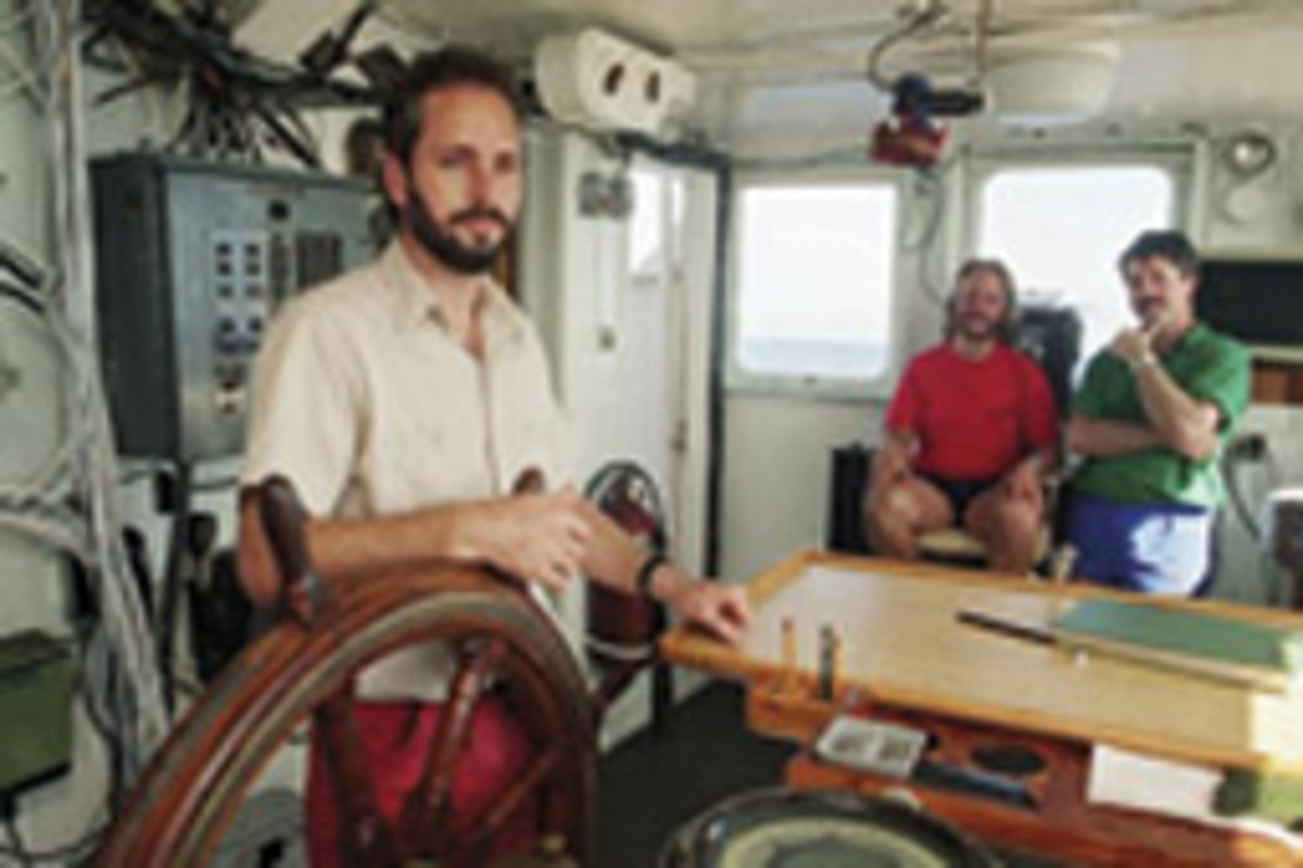 Thompson in 1991 aboard Arctic Discoverer