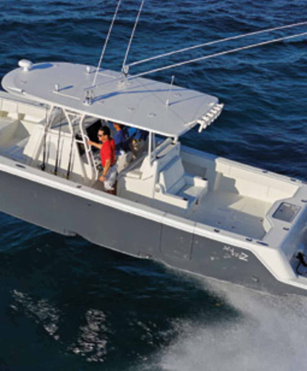 SeaVee recently added three stepped models to its lineup. The Z-390 pictured here is the flagship.