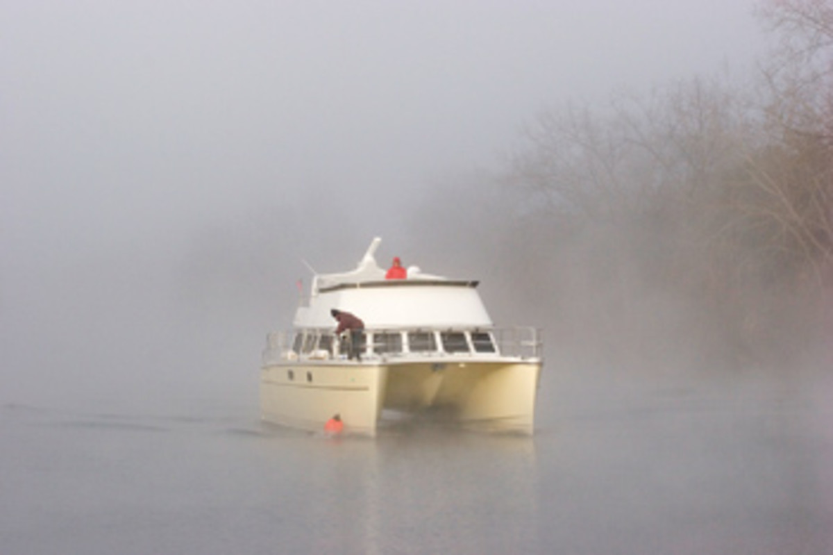 A slow pace, hyperawareness of your surroundings and prudent seamanship are smart bets when operating in fog.