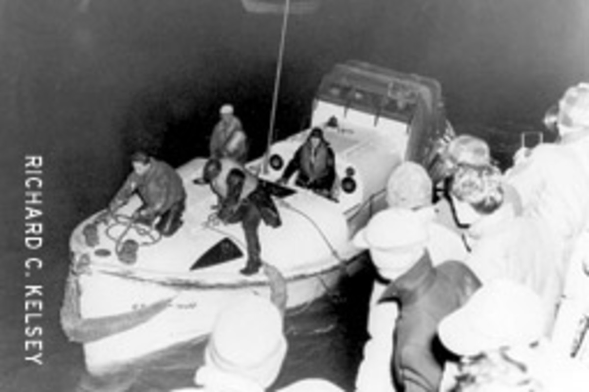 CG36500 returned to the Chatham Fish Pier with 32 survivors after what is known as one of the greatest small-boat rescues in Coast Guard history.