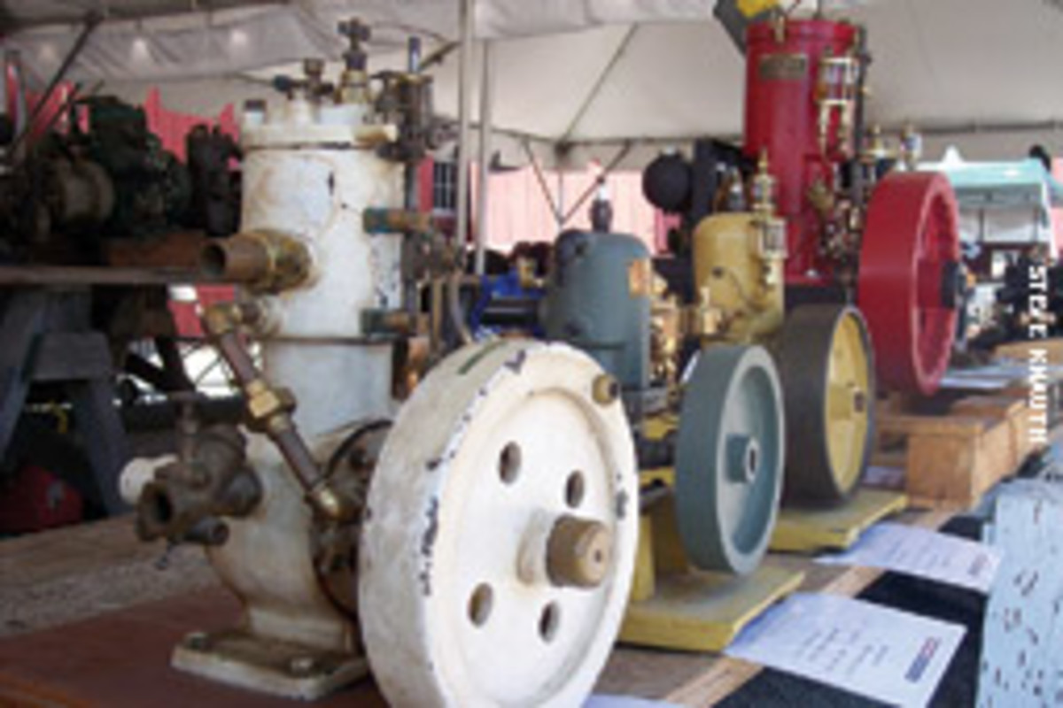 Shows such as August's Antique Marine Engine Expo in Mystic, Conn., are like treasure troves for the Sesselbergs.