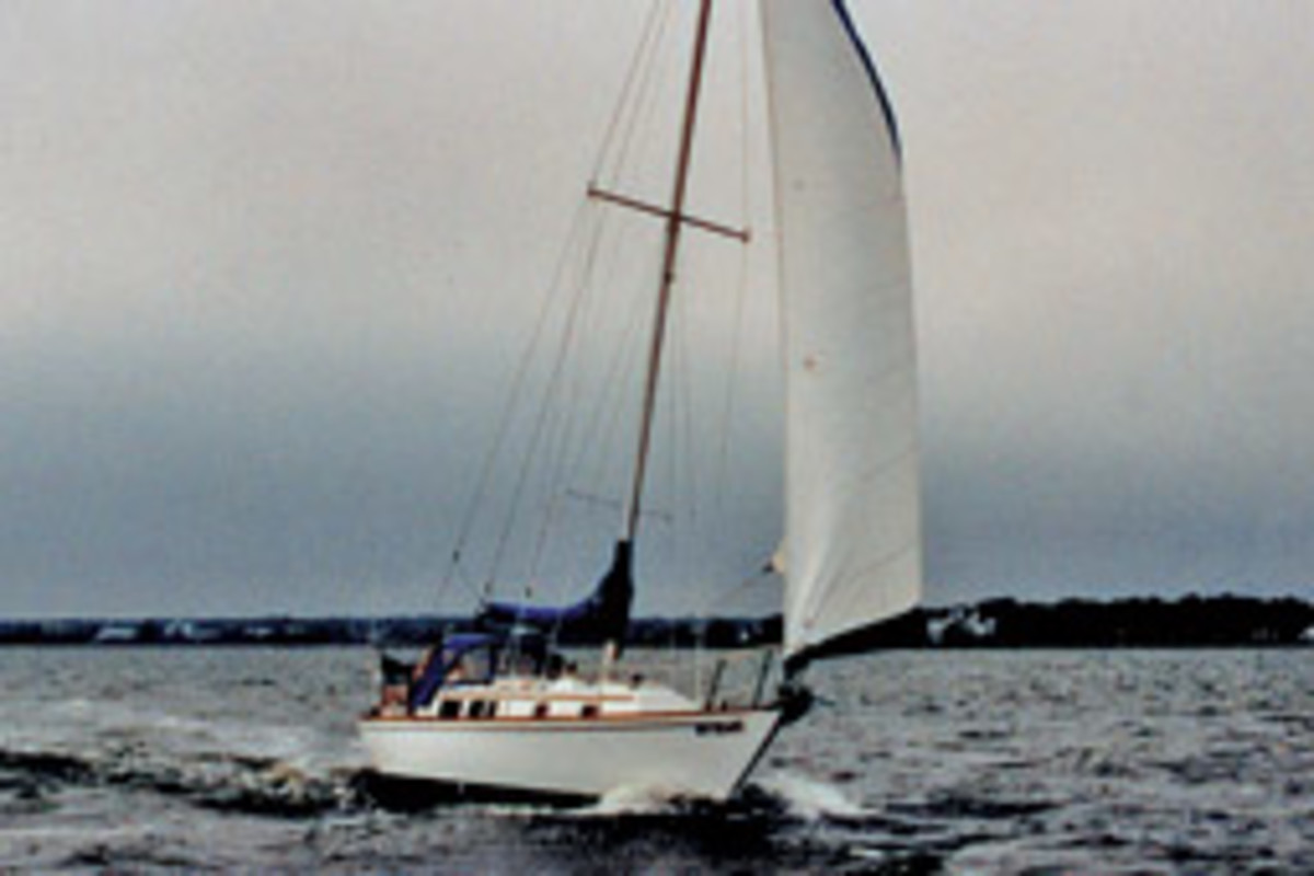 Nyala and Mike O'Shea take on the Great South Bay in 1996.