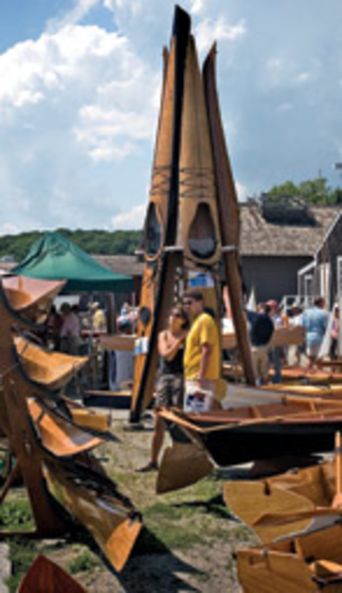 Myriad canoes and kayaks were available as kits from Chesapeake Light Craft.