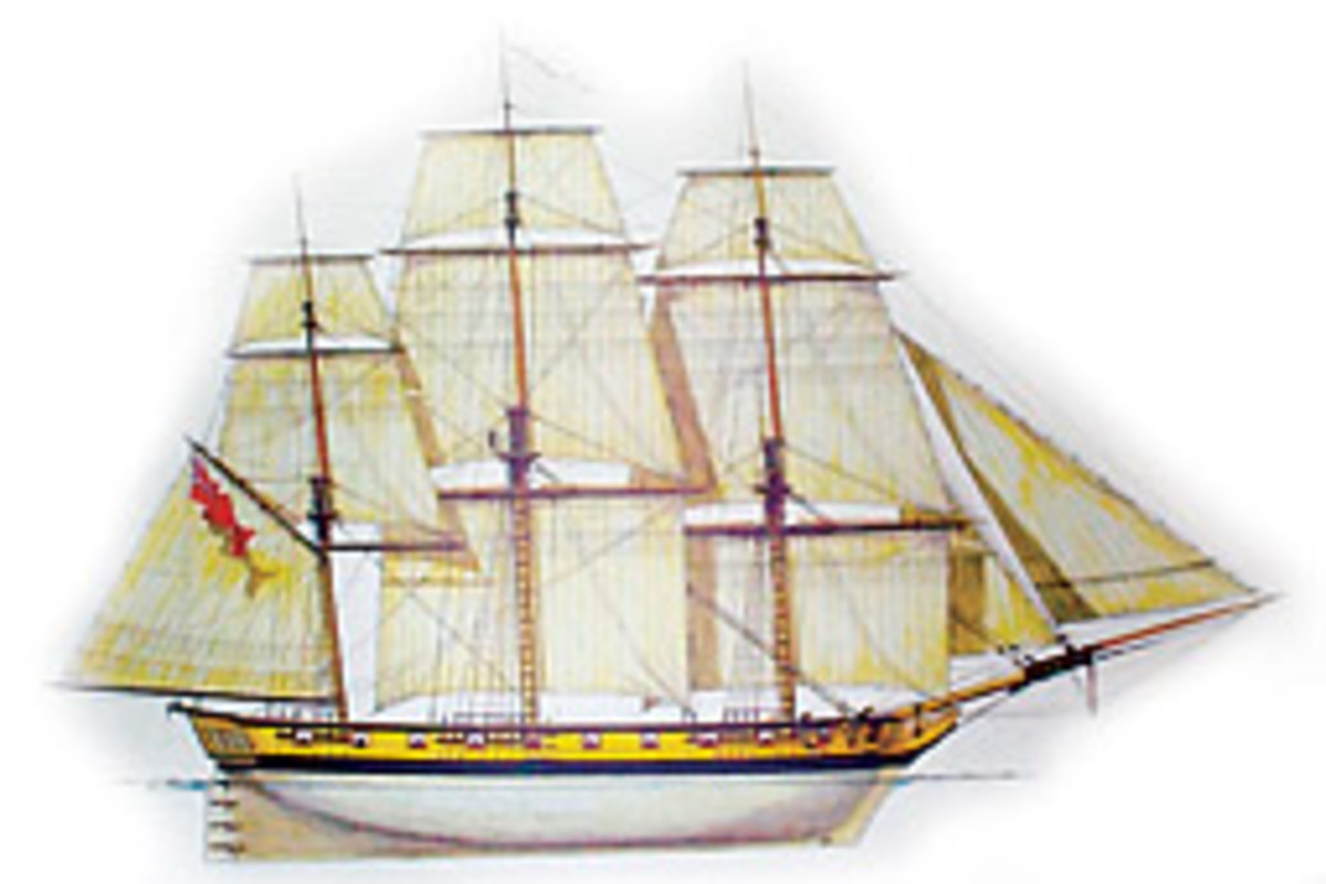 A rendering shows how the ship will look after completion in 2011.