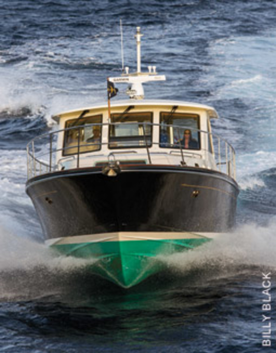 Hunts ride deep-vee hulls that handle heavy seas with aplomb.