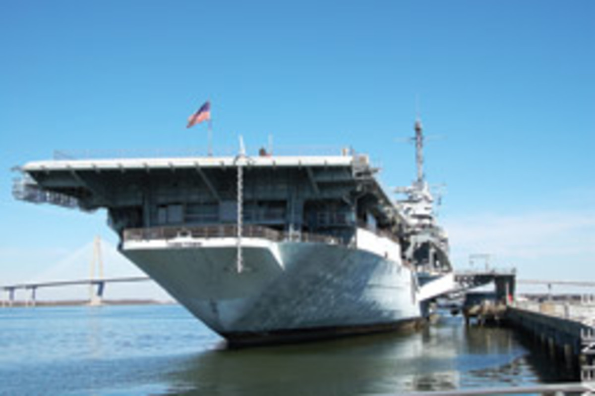 The aircraft carrier Yorktown serves as the centerpiece of Patriots Point Naval and Maritime Museum.