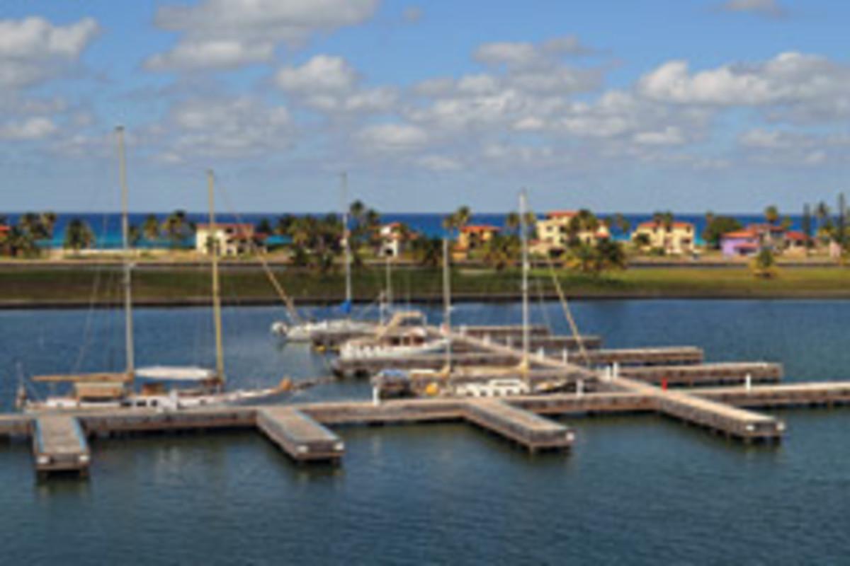The Marina Darsena, in Varadero, Matanzas, is atypically modern for Cuba.