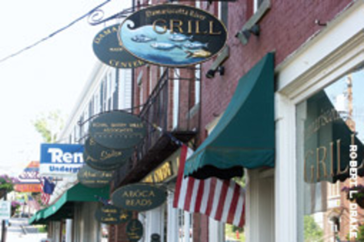 Specialty shops, galleries, restaurants and services now occupy many of Damariscotta's 19th century brick buildings along Main Street. The downtown is on the National Register of Historic Places.