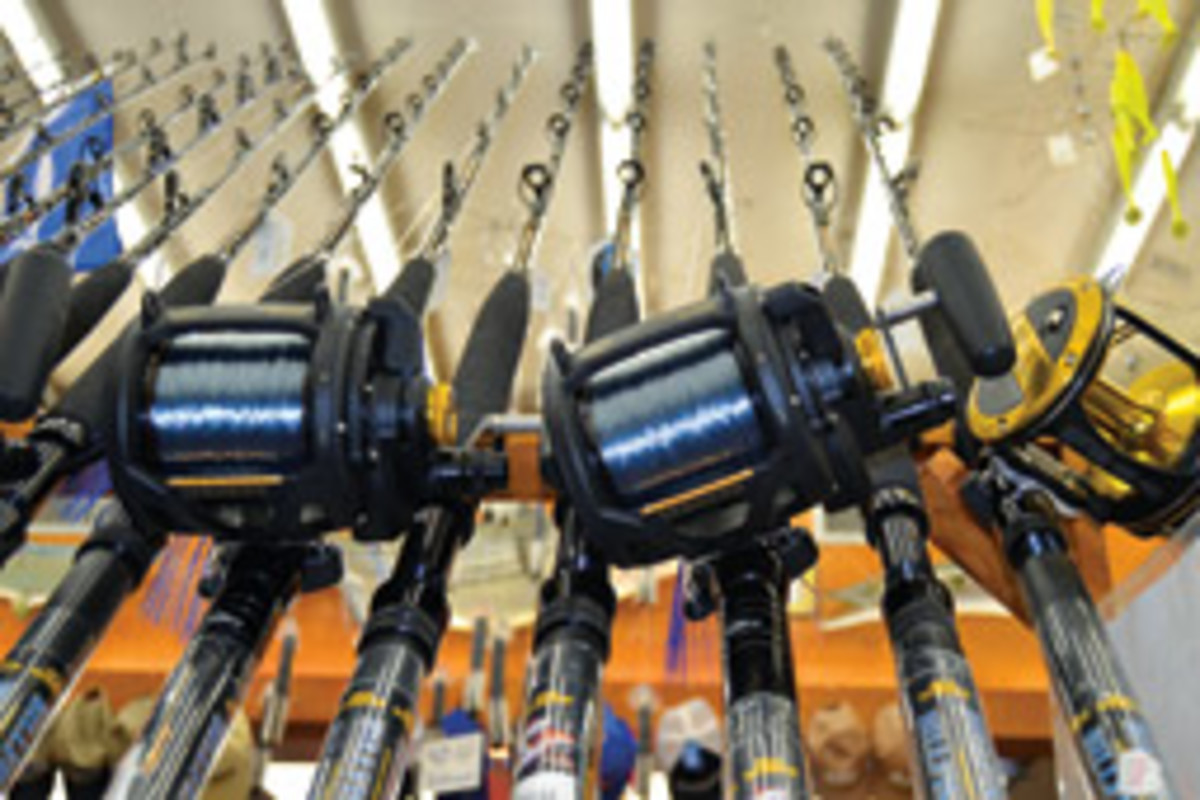 Tochterman's, which occupies five row houses, is stacked to the rafters with equipment and anglers' treasures.