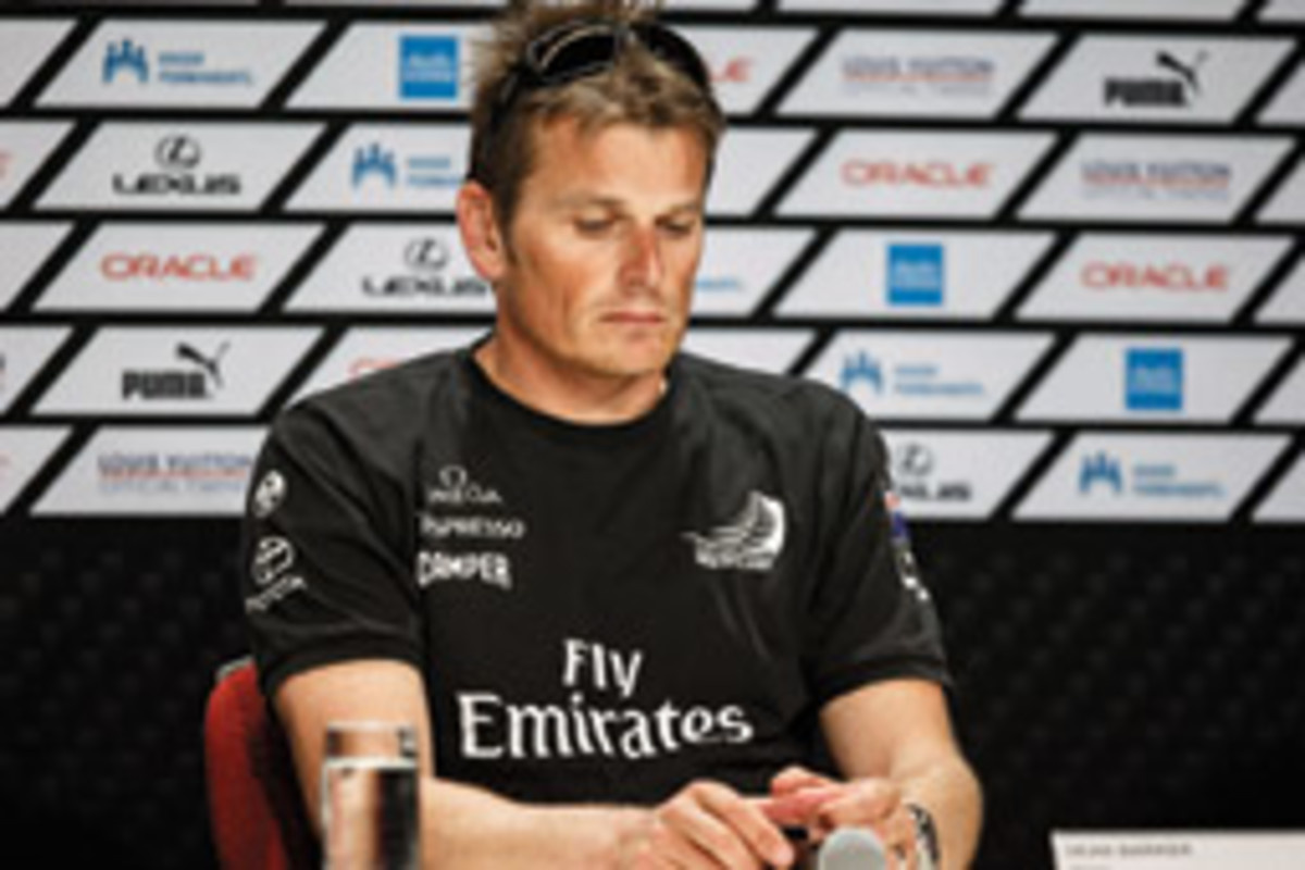 The downcast countenance of Team New Zealand skipper Dean Barker says it all.