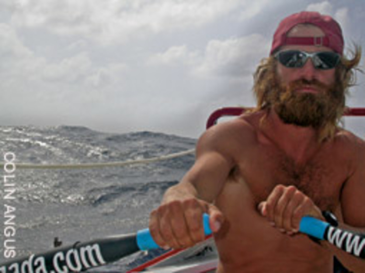 Canadian adventurer Colin Angus (here rowing across the Atlantic) will be one of the nortable entrants in the race.