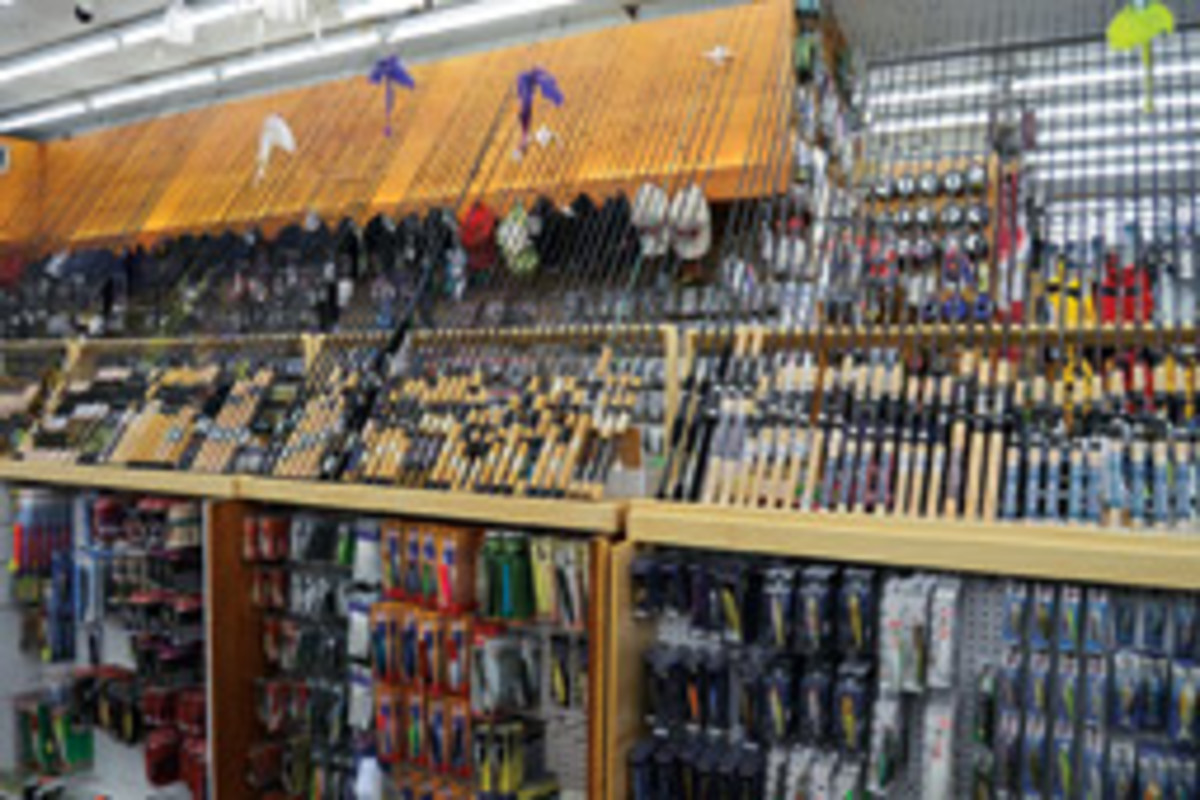 In additon to the latest fishing gear, the store houses vintage and rare equipment - enough for a future museum.