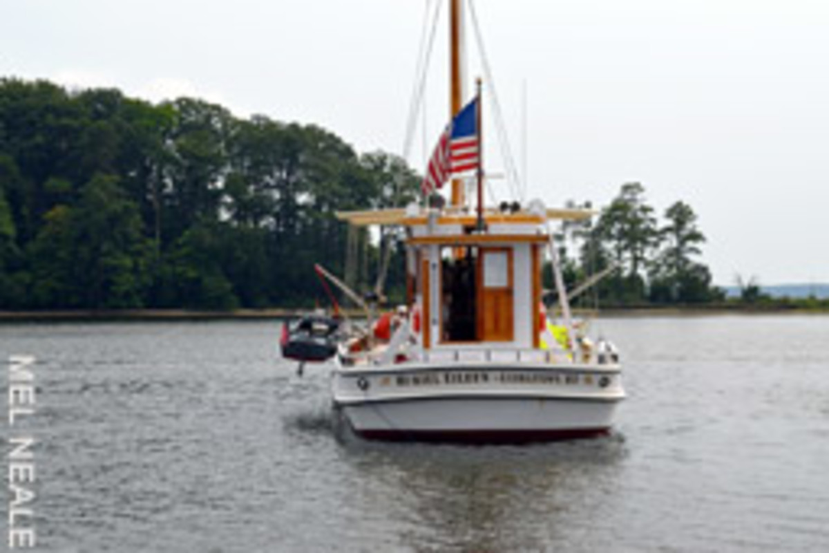 This 1926 Chesapeake buyboat was refurbished as a pleasure boat - she's definitely not too old.