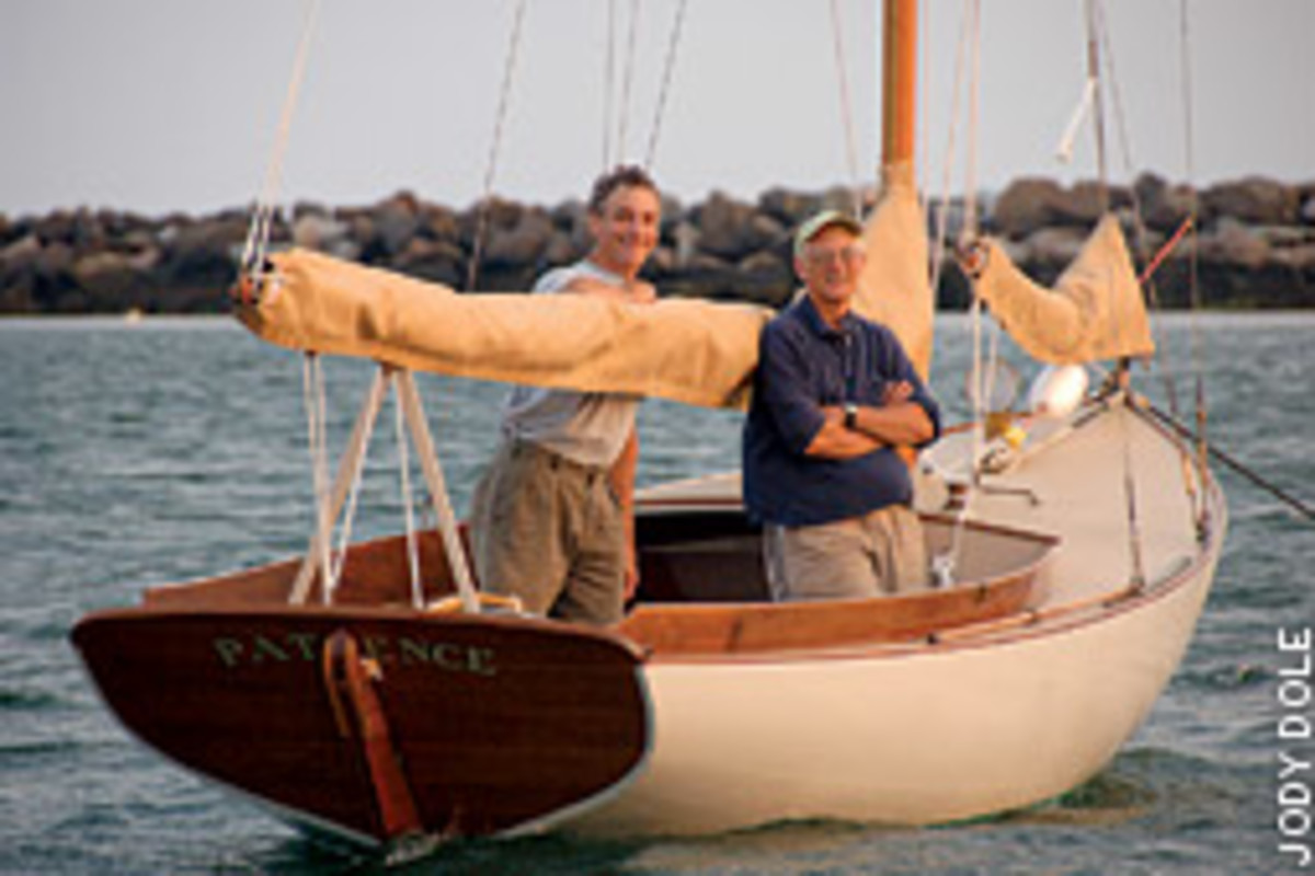 Ben Philbrick, left, and Bell Mills pursue perfection out of Stonington Boat Works where they specialize in boats that look good and sail well. 'Anything else, why bother?' asks Mills.